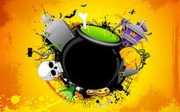 Halloween Cauldron vector illustration