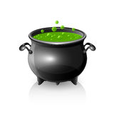 Halloween cauldron Royalty Free Stock Image