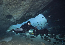 Halloween Cave Dive - Blue Springs Stock Photography