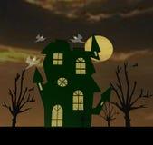 Halloween celebration. In autumn horror night Stock Photography
