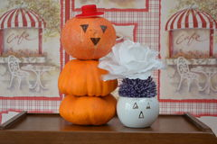 Halloween celebration. Begins.Not so scary as it seems royalty free stock images