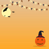 Halloween celebration buntings background Stock Images