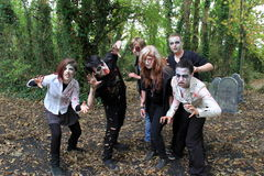Halloween celebration with Ghouls roaming to scare visitors,Bunratty Castle, County Clare,Ireland, October,2014. Halloween celebration with section of property stock images