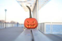 Halloween. The celebration of Halloween pumpkin with candle symbol royalty free stock image