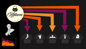Halloween celebration spooky Infographics template design EPS10 royalty free stock photo