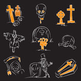 Halloween Cemetary Set Royalty Free Stock Images