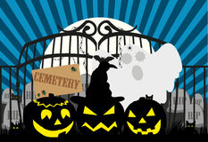 Halloween_Cemetery Royalty Free Stock Photos