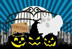 Halloween_Cemetery Fotografie Stock Libere da Diritti