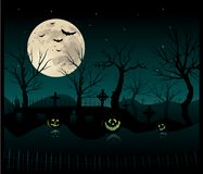 Halloween cemetery background Royalty Free Stock Image