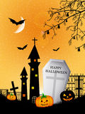 Halloween cemetery Royalty Free Stock Image
