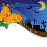 Halloween cemetery Stock Image