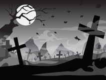Halloween cemetery and tomb Royalty Free Stock Images