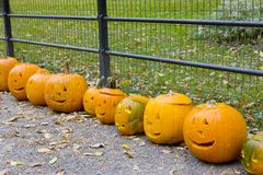 Halloween in Central Park Royalty Free Stock Photos