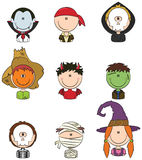Halloween Character Avatars Stock Images