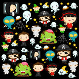 Halloween Character Background Stock Images