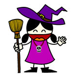 Halloween character  cartoon. Stock Image