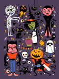Halloween character collection Stock Photography