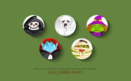 Halloween character for Costume Party Stock Image