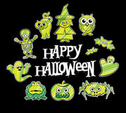 Halloween character designs Royalty Free Stock Photo