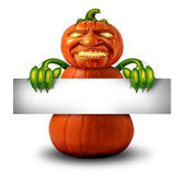 Halloween Character Message Stock Photography