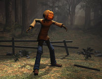 Halloween character pumpkin man Stock Photography