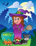 Halloween character scene 1 Royalty Free Stock Images