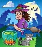Halloween character scene 2 Stock Images