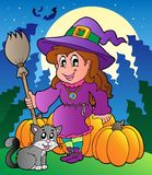 Halloween character scene 4 Stock Photography