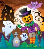 Halloween character scene 5 Royalty Free Stock Image