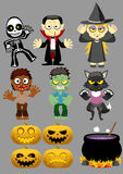 Halloween Character set 1 vector illustration