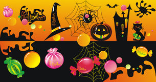 Halloween character set. With sweets Royalty Free Stock Image