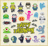 Halloween character set Stock Photography