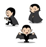 Halloween Character Set Cute Dracula Cartoon Vector Illustration Stroke Royalty Free Stock Image