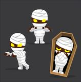 Halloween Character Set Cute Mummy Cartoon Vector Illustration Stock Photography