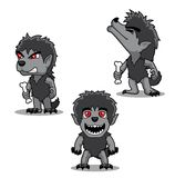 Halloween Character Set Cute Werewolf Cartoon Vector Illustration Stroke Royalty Free Stock Image