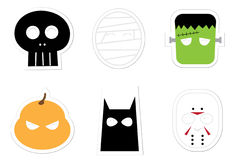 Halloween Character Stickers Stock Image