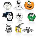 Halloween characters Royalty Free Stock Images