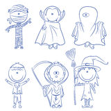 Halloween characters Royalty Free Stock Photo