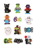 Halloween Characters. Several Halloween characters isolated over a white background Stock Images