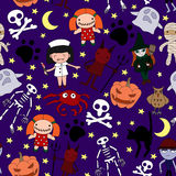 Halloween characters seamless pattern Royalty Free Stock Image