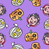 Halloween characters seamless pattern background Royalty Free Stock Photos