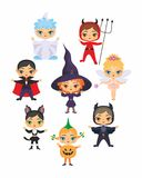 Halloween characters set Royalty Free Stock Photos