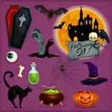 Halloween characters set Royalty Free Stock Photography