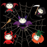 Halloween characters TanoshiDoll Royalty Free Stock Images