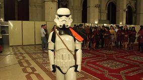 Halloween Charity Ball - Star Wars soldier stock footage