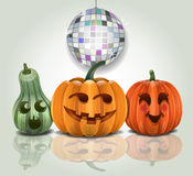 Halloween che fa festa le zucche Fotografia Stock