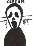 Halloween child drawing - scream Royalty Free Stock Photography