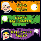Halloween Children Banners Stock Photo