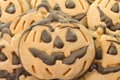 Halloween chocolate cookies Stock Images