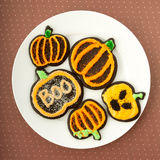 Halloween Chocolate Sugar Cookies Royalty Free Stock Photo